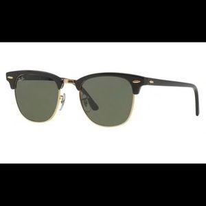 Ray Ban Clubmaster Sunglasses (black & gold)